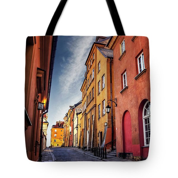 Tote Bag featuring the photograph Winsome Warsaw  by Carol Japp