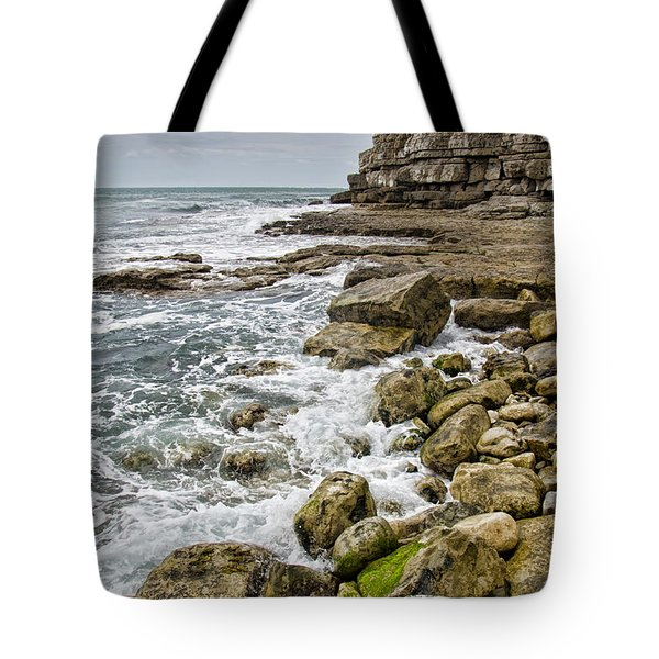 Winspit Cove In Dorset Tote Bag