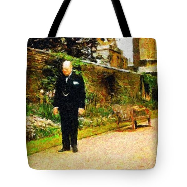 Winston Churchill, 1943 Tote Bag by Vincent Monozlay