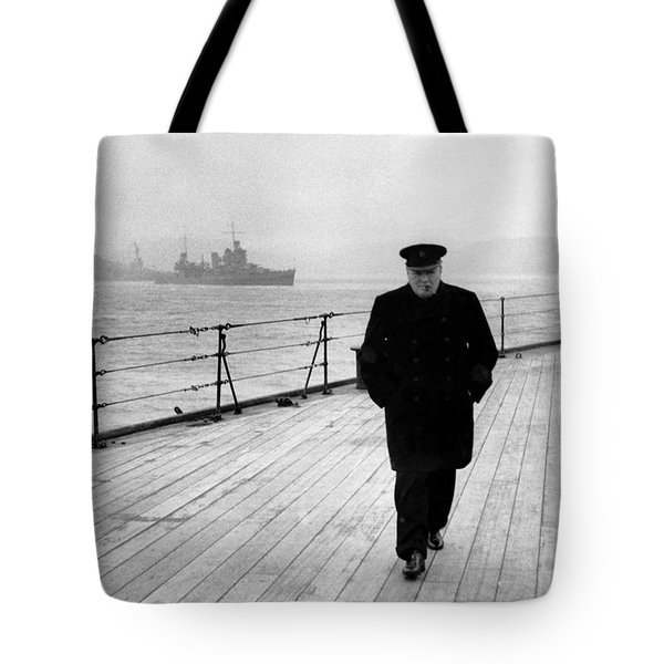 Winston Churchill At Sea Tote Bag by War Is Hell Store