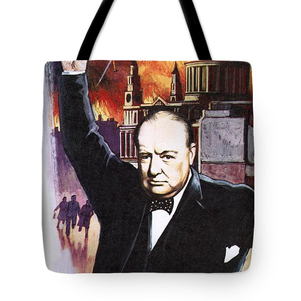 Winston Churchill During The Blitz Tote Bag