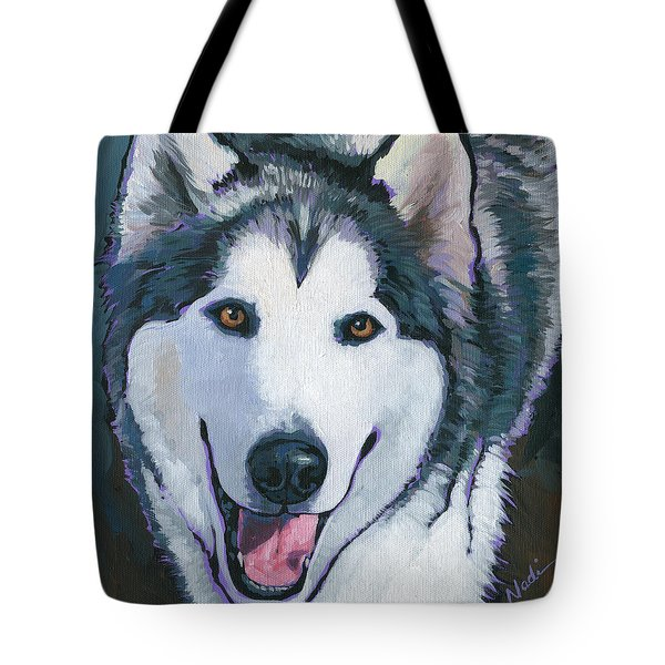 Tote Bag featuring the painting Winston by Nadi Spencer