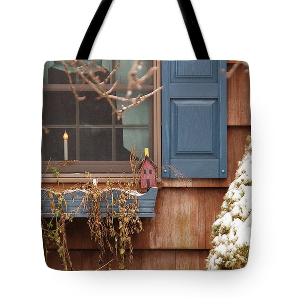 Winter - A Winters Morning Tote Bag by Mike Savad