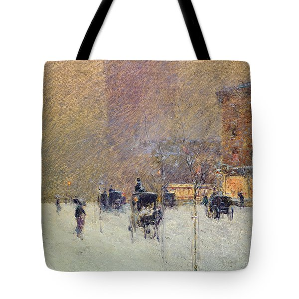 Winter Afternoon In New York Tote Bag