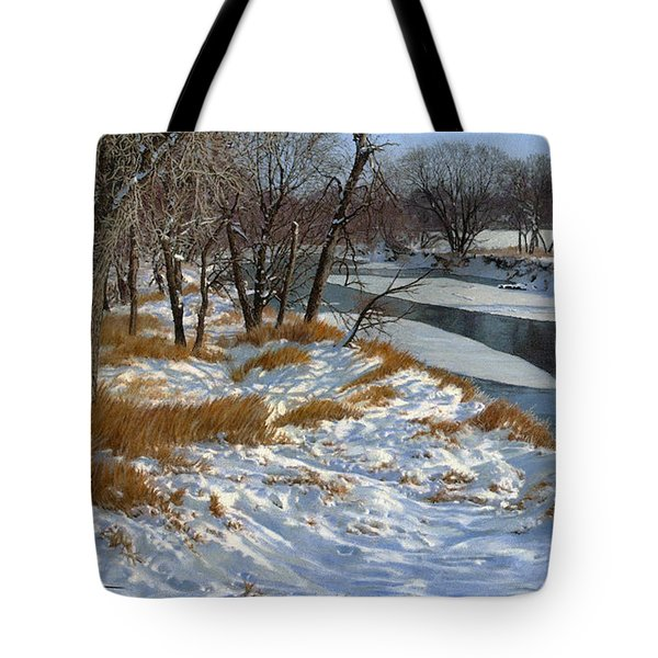 Winter Along The Little Sioux Tote Bag