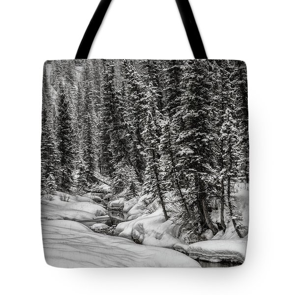 Winter Alpine Creek II Tote Bag