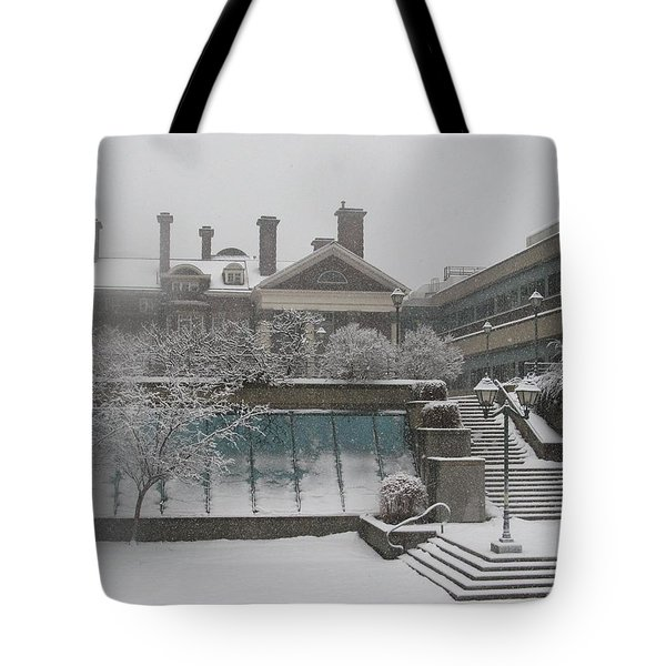 Winter Architecture Tote Bag