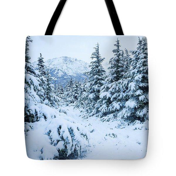 Winter Arrives Tote Bag