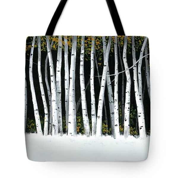 Winter Aspens II Tote Bag