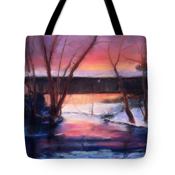 Winter At Bennett's Mill Tote Bag