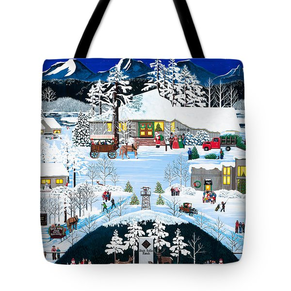 Winter At Black Butte Tote Bag