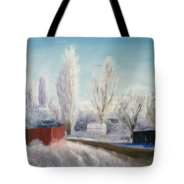 Winter At Bonanza Tote Bag