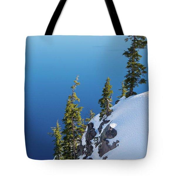 Winter At Crater Lake Tote Bag