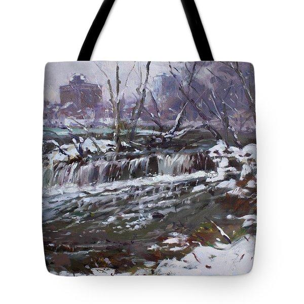 Winter At Goat Island Tote Bag