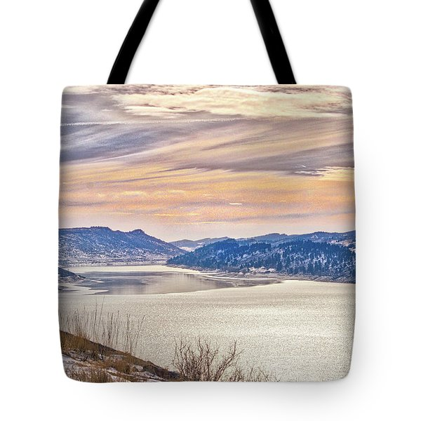 Winter At Horsetooth Reservior Tote Bag