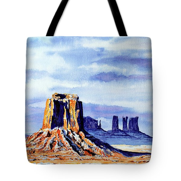 Winter At Merrick Butte Tote Bag