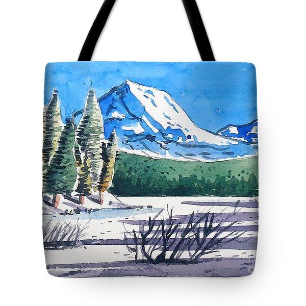 Winter At Mt. Lassen Tote Bag