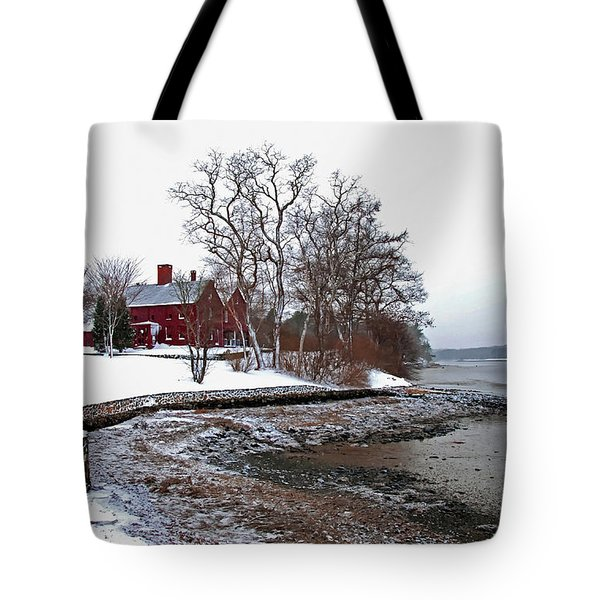 Tote Bag featuring the photograph Winter At Perkins House  by Wayne Marshall Chase