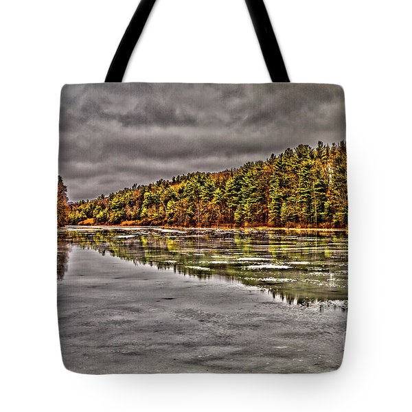 Tote Bag featuring the photograph Winter At Pine Lake by William Norton