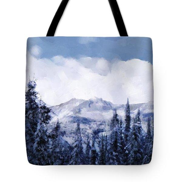 Winter At Revelstoke Tote Bag