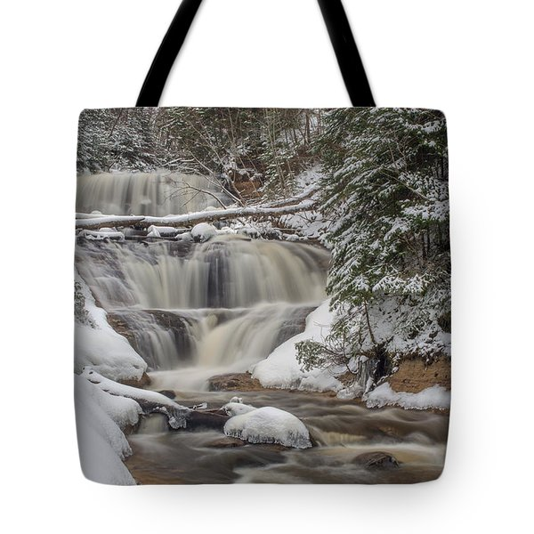Winter At Sable Falls Tote Bag