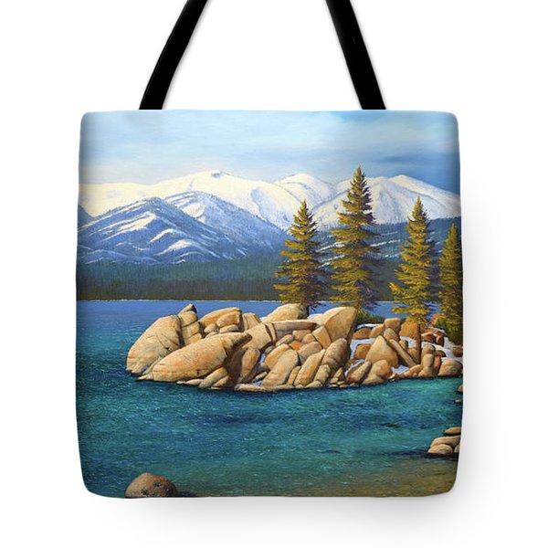 Winter At Sand Harbor Lake Tahoe Tote Bag
