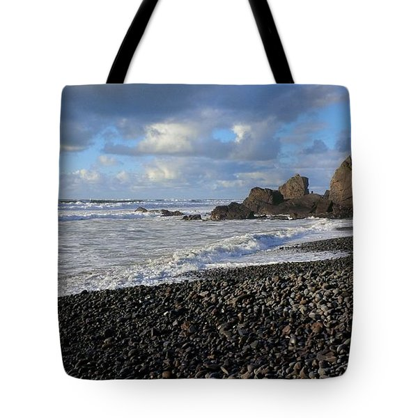 Winter At Sandymouth Tote Bag by Richard Brookes