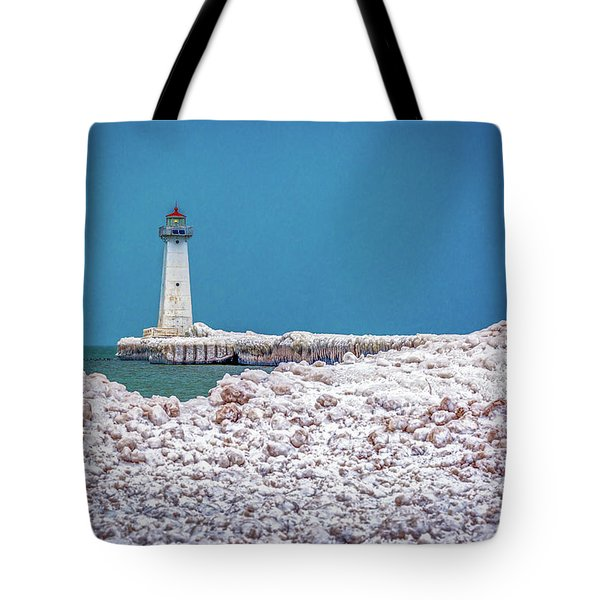 Winter At Sodus Point  Tote Bag