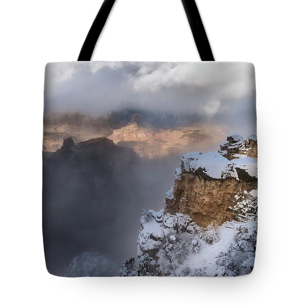 Tote Bag featuring the photograph Winter At The Grand  Canyon by Sandra Bronstein