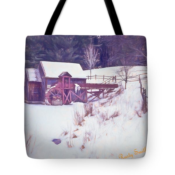 Winter At The Gristmill. Tote Bag