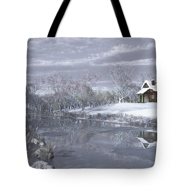 Winter At The Lake Tote Bag