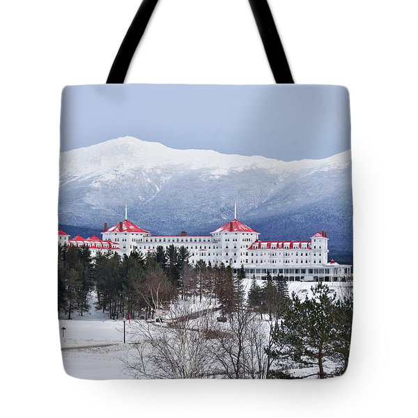 Winter At The Mt Washington Hotel Tote Bag