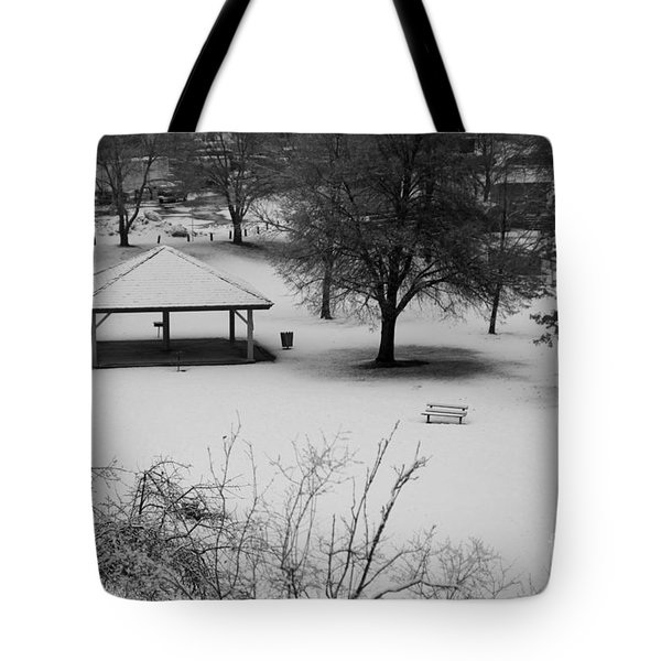 Winter At The Park Tote Bag by Idaho Scenic Images Linda Lantzy