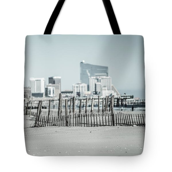 Winter At The Shore Tote Bag