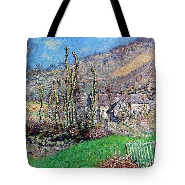 Winter At The Val De Falaise Tote Bag by Claude Monet