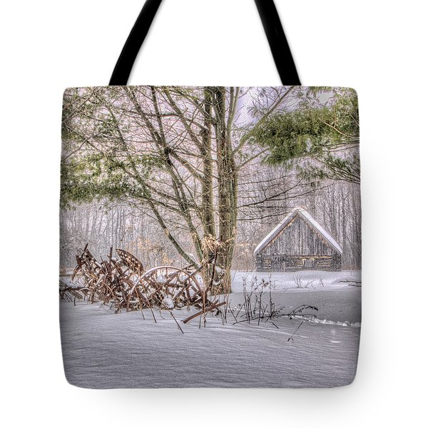 Winter At The Woods Tote Bag