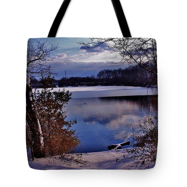 Winter At Twin Lakes Tote Bag by Mikki Cucuzzo