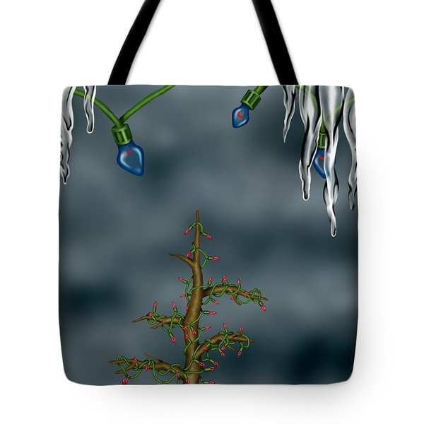 Winter Background Tote Bag