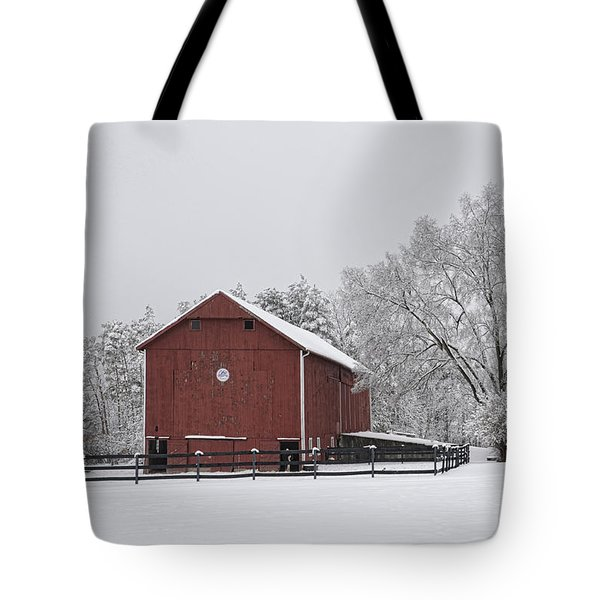 Winter Barn Tote Bag by Ann Bridges
