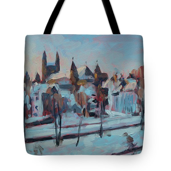 Winter Basilica Our Lady Maastricht Tote Bag