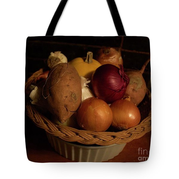 Winter Basket Tote Bag