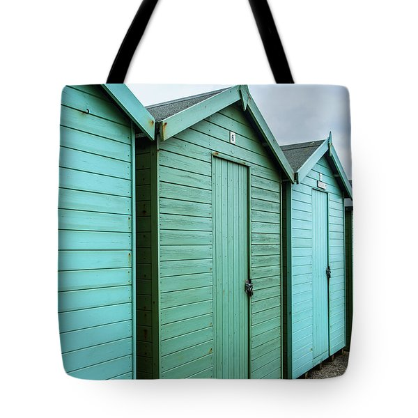 Winter Beach Huts IIi Tote Bag