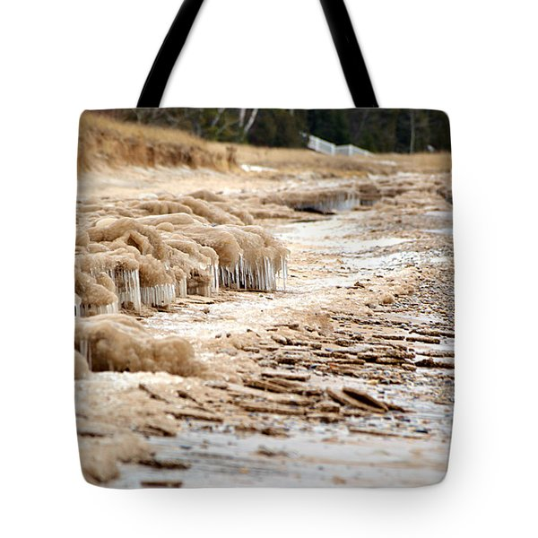 Tote Bag featuring the photograph Winter Beach by SimplyCMB