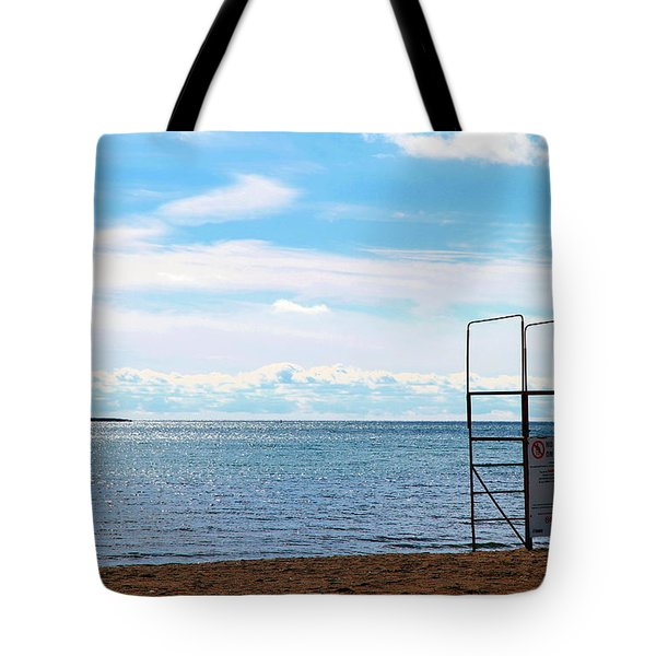 Tote Bag featuring the photograph Winter Beach by Valentino Visentini