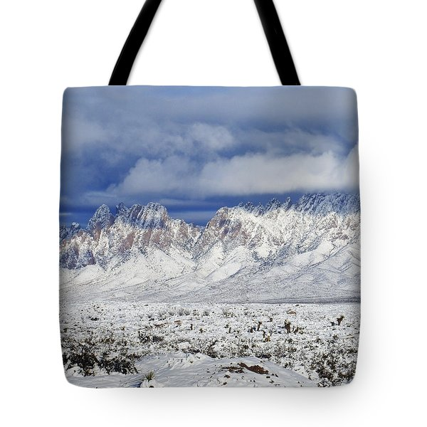 Tote Bag featuring the photograph Winter Beauties Organ Mountains by Kurt Van Wagner