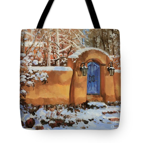 Winter Beauty Of Santa Fe Tote Bag