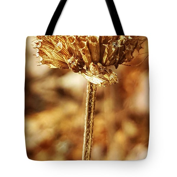 Winter Bee Balm Tote Bag by Bruce Carpenter
