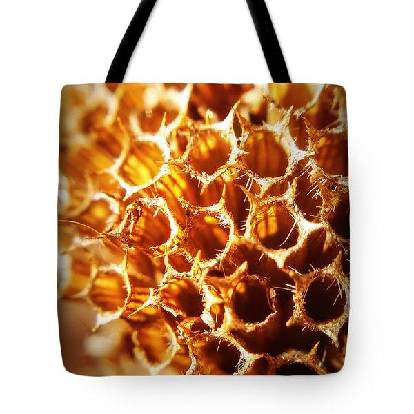 Winter Bee Balm Macro Tote Bag by Bruce Carpenter