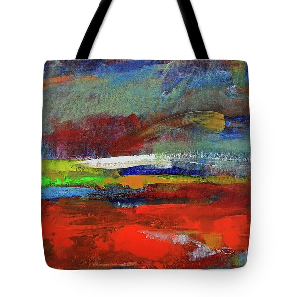 Tote Bag featuring the painting Winter Beginnings by Walter Fahmy