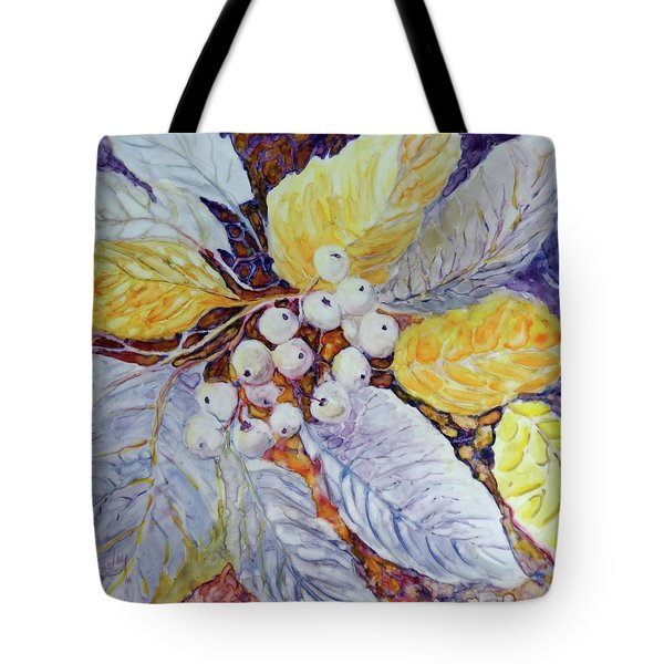 Tote Bag featuring the painting Winter Berries by Joanne Smoley